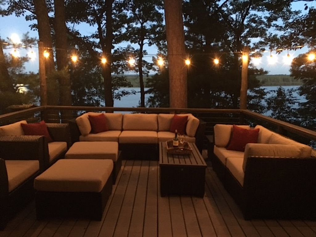 cabin on St. Croix River with beautiful patio