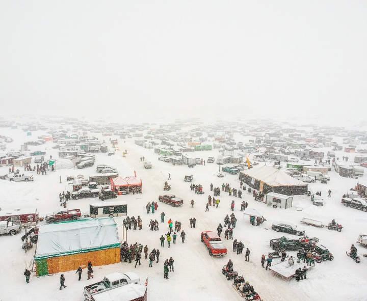 International Eelpout Festival Aerial in Walker, Minnesota