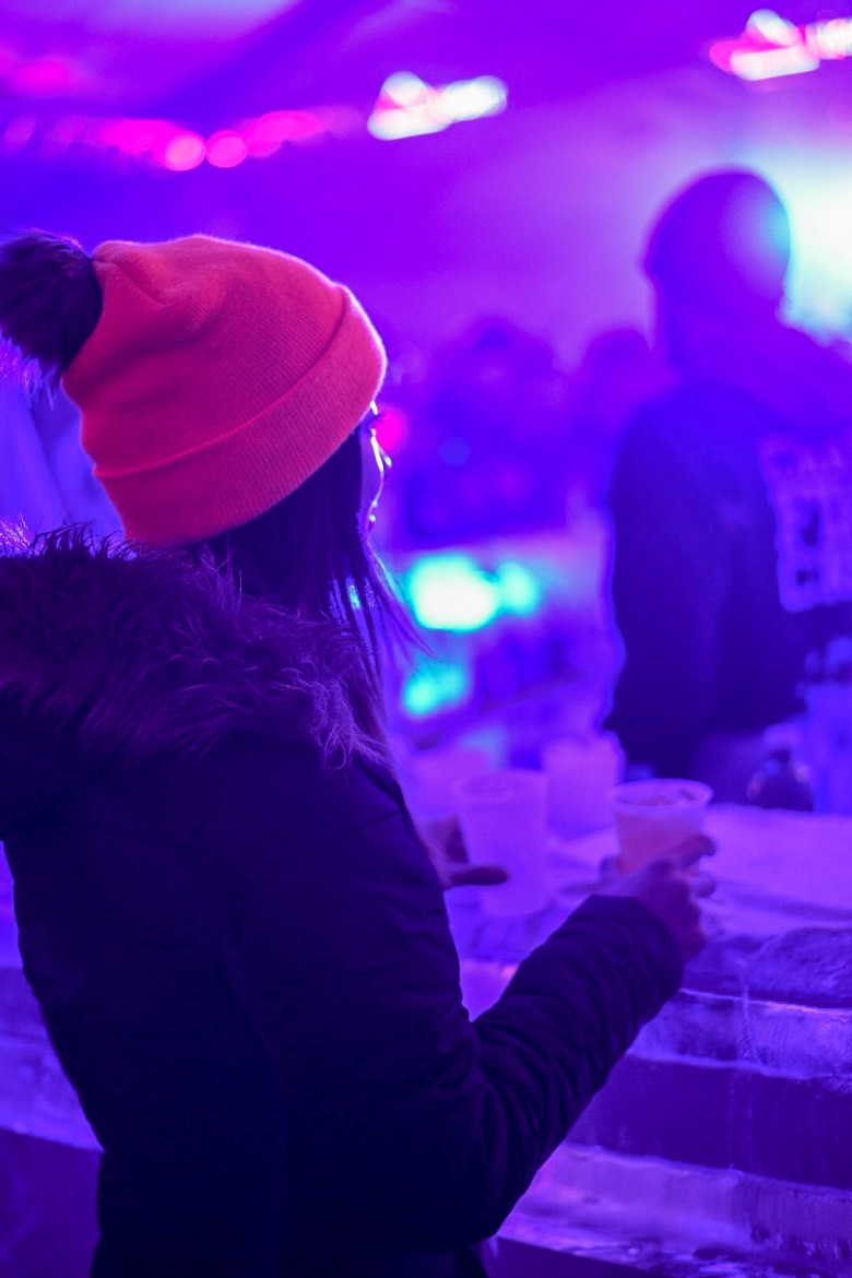 Ice Bar at Chase Ice Tent