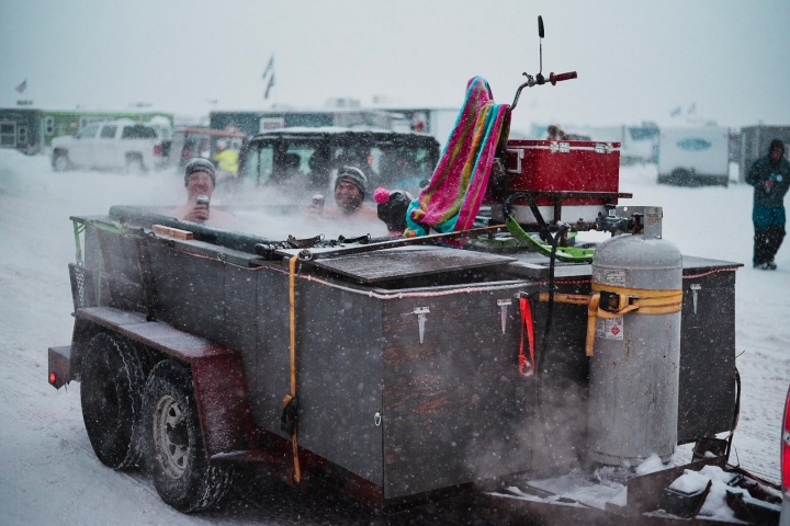 Hot tub at Eelpout Festival