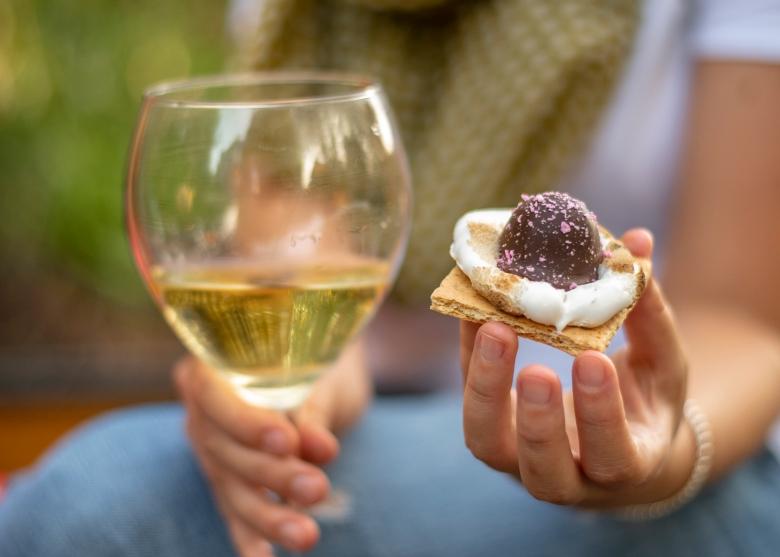 Legacy Chocolates Bittersweet Raspberry Truffle and Famiglia Meschini Torrantes