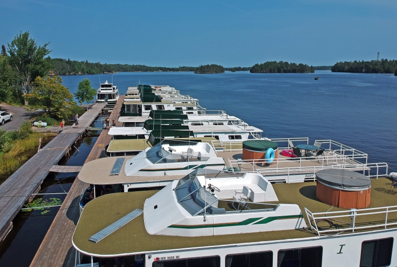 Houseboats at Voyageurs National Park