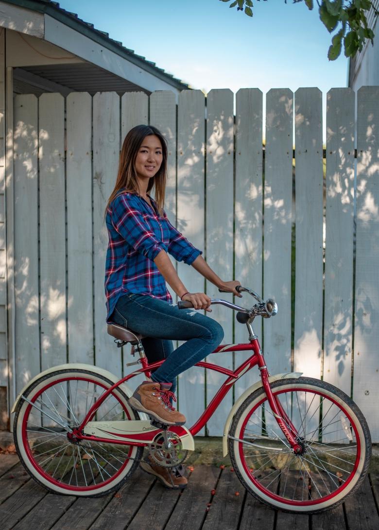 Biking at Marine on St. Croix Girl of 10,000 lakes