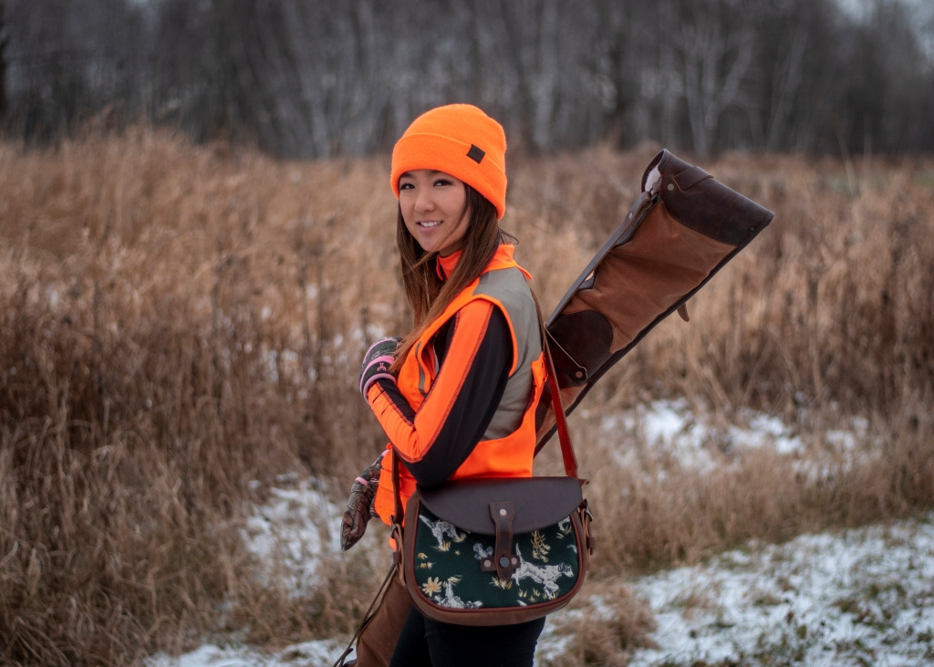 Carrying shotgun for pheasant hunting